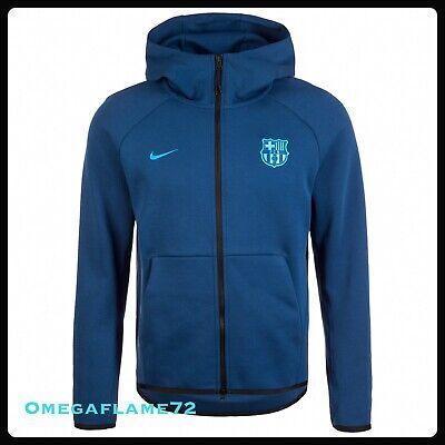 Nike FC Barcelona Fußball Tech Fleece Full Zip Hooded Top, ah5199 423, SZ Med | eBay