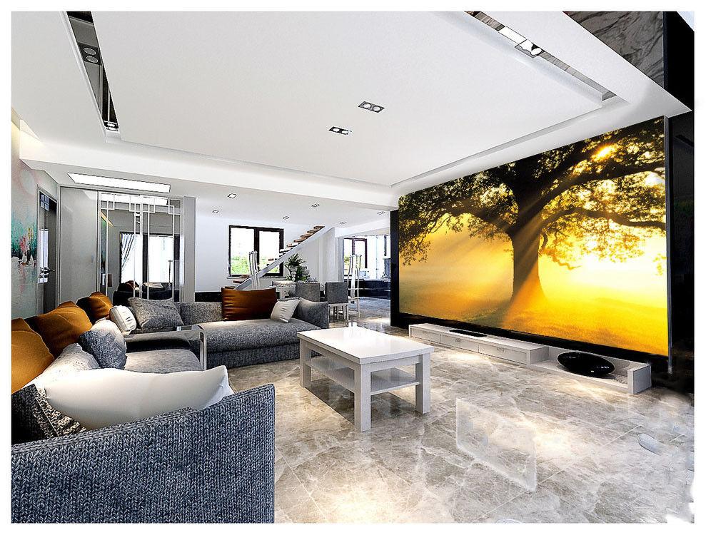 3D Sunshine Tree 73 Wallpaper Mural Paper Wall Print Wallpaper Murals UK Lemon