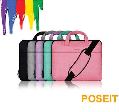 "Many Design 15"" 15.4"" 15.6"" Laptop Shoulder Bag Sleeve Case Pouch Cover W/Handle"