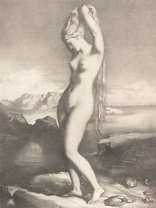 CHASSERIAU-FRENCH-VENUS-ANADYOMENE-OLD-ART-PAINTING-POSTER-BB6459A