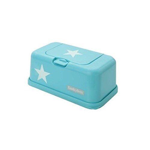 Funkybox graue Feuchtt/ücherbox mit wei/ßen und silbernen Sternen