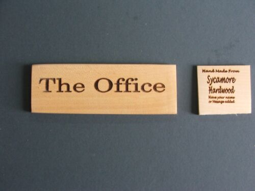 postage 99p Personalised Door Signs-Sycamore hardwood-1400mmx45mm-£2-25 each