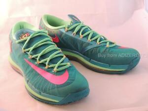 cheaper e8e36 4ce18 Image is loading Nike-KD-6-IV-Elite-Turbo-Green-Pink-