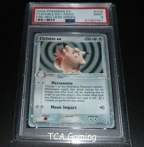 PSA-9-MINT-Clefable-Ex-106-112-Fire-Red-Leaf-Green-HOLO-RARE-Pokemon-Card