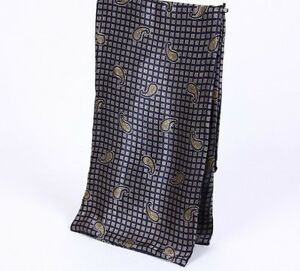 Imprime-Cachemire-Cravate-Soie-echarpe-Homme-Foulard-satin-foulards-doux-bandana-motif