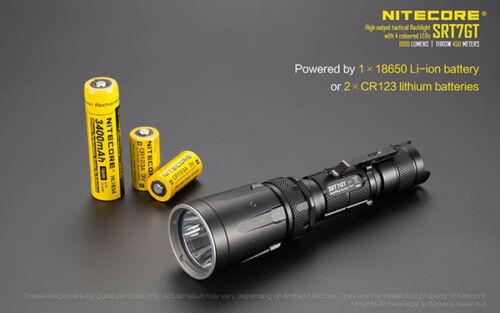 NiteCore SRT7GT Cree XP-L HI V3 LED Red Blue Green UV Color LED Flashlight Torch