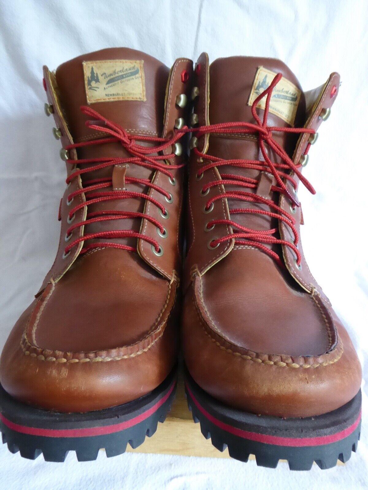 Timberland UK14.5 RRP EUC brown leather chukka boot - rare and unusual