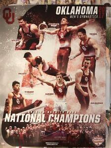 2017 Oklahoma Sooners National Champions Men's Gymnastics Free Shipping
