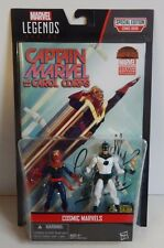 "Marvel Legends Series 3 3/4"" Cosmic Marvels two pack Comic Book Captain Marvel!"