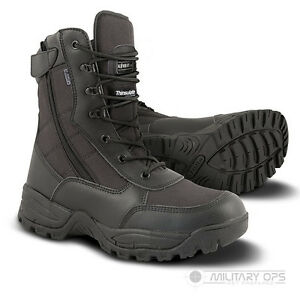 Spec Black Recon Cordura Leather Ops Army Military Side Zip Boot Lightweight RRnqE7