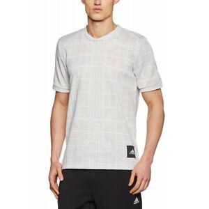 Adidas-Jersey-Men-039-s-T-Shirt-Grey-Graphic-Tee-DNA