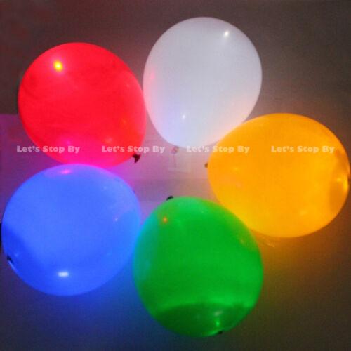 48 LED Blue Balloon Paper Lantern Light Wedding Christmas Floral Decoration
