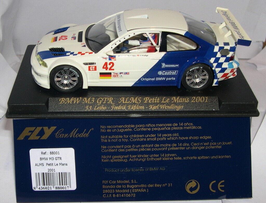 flygaga 8801 Slot Bil BMW M3 GTR Alms Petit le Mans 2001 Letho Ekblom Wendinger MB