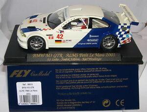 Fly 88001 Slot Voiture Bmw M3 Gtr Aumônes Petit Le Mans 2001 Letho-ekblom-wendinger