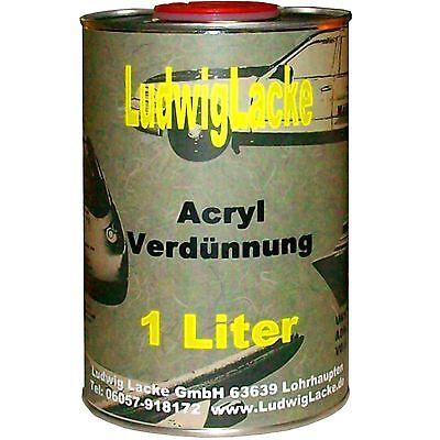 Acrylverdünner kurz 1 Liter zum Verdünnen Autolack Acryllack Basislack FreiHaus