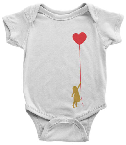Girl With Red Heart Balloon Infant Bodysuit Valentine/'s Day Gift
