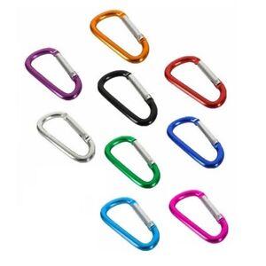 Mousqueton-Aluminium-Couleur-38mm-Porte-Cles-Attache-Crochet-Randonnee-Carabiner
