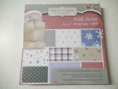 """AUSVERKAUF: Docrafts: 48x Papier """"Kraft Notes Christmas"""" 15,2x15,2cm -15"""