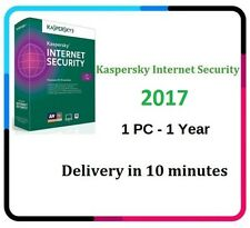 KASPERSKY INTERNET SECURITY 2017 1PC/1YEAR | DOWNLOAD | GET CODE 10 minutes