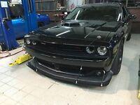 15-17 Dodge Challenger Custom Racing Front Chin Lip Spoiler Splitter 4 Supports