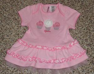 986dc6e9b Guess Baby Girls Cupcake Dress Ruffles Tulle Hem Size 3-6 Months EUC ...