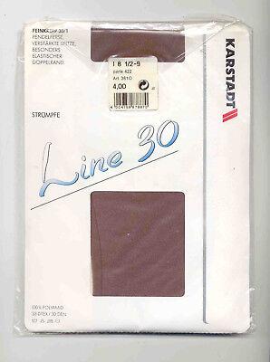 Angemessen Originale Line 30, Vintage Strapsstrümpfe O. Naht, Gr. 8,5 - 9, Perle Schmerzen Haben
