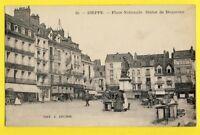 cpa FRANCE Normandie 76 - DIEPPE Place Nationale MARCHANDS Etals Commerces