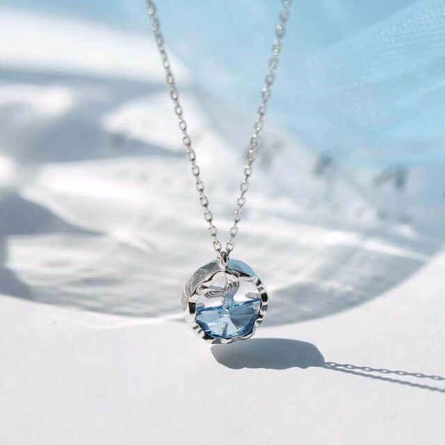 Women Mermaid Tail Sexy Lady Fashion Jewelry Clavicle Chain Pendant Necklace