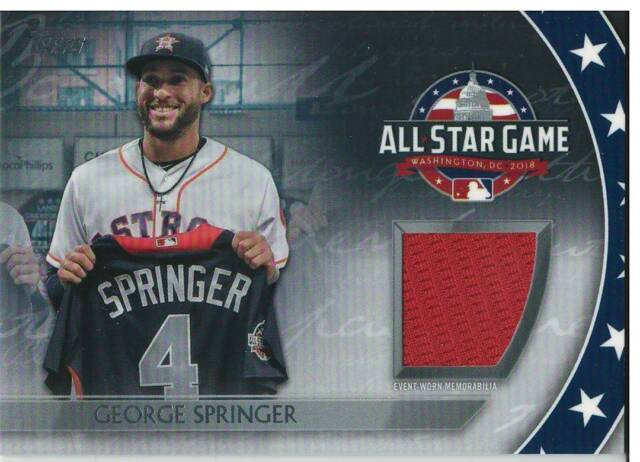 2018 Topps Update All-Star Game Relic George Springer #AST-GS Astros
