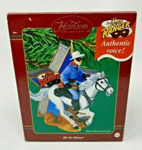 The Lone Ranger Ornament with Authentic Voice Carlton Cards Heirloom Collection