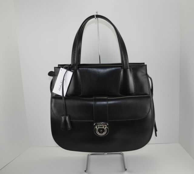 b7728354efe9 NWT - Salvatore Ferragamo Mardea Leather Handbag Black -  2