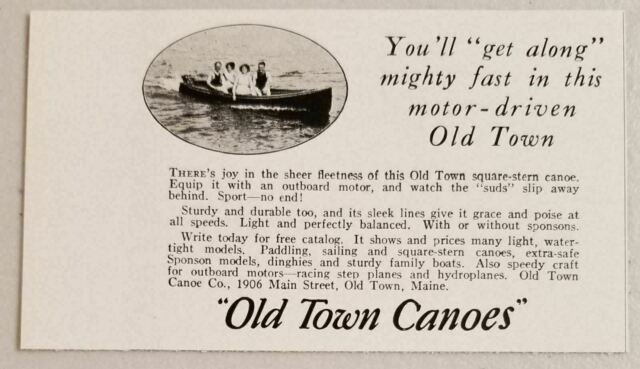 1929 Print Ad Old Town Square-Stern Canoes Old Town,Maine
