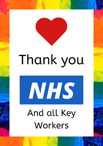 Gracias NHS Arco Iris cartel impresión 10/% donado a NHS charites A2 A3 A4