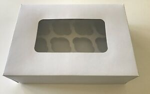 Clearance-19-x-Window-Cupcake-Box-With-Insert-Holds-12-Mini-Size-Cupcakes