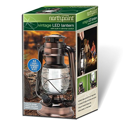 INDOOR OUTDOOR LED RUSTIC TABLE LANTERN LAMP SOLAR OR ...