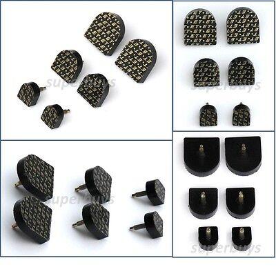 19mm x20mm Beige Shoe Stiletto High Heel Sole Repair Cap End Tip Pin Like Rubber