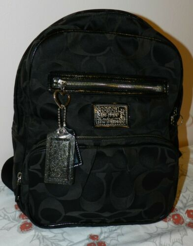 COACH Fabric Black Monogram Backpack
