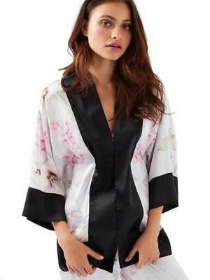 Ann Summers Kalena White  Ivory  Kimono Dressing Gown Size Large 16-18  NWT