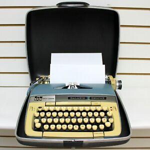 Vintage Smith Corona Galaxie Deluxe Portable Typewriter With Case, No Key