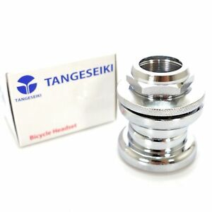 Tange-Old-School-BMX-headset-1-034-threaded-32-7-cups-26-4mm-Chrome-Silver