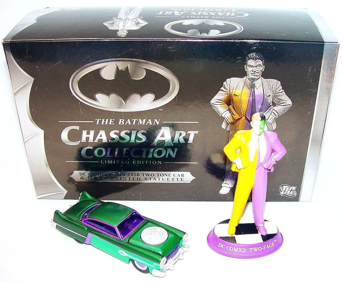 Corgi 1 43 DC COMICS THE BATMAN CHASSIS CHASSIS CHASSIS ART COLLECTION TWO-FACE + CAR MIB`07  75969d