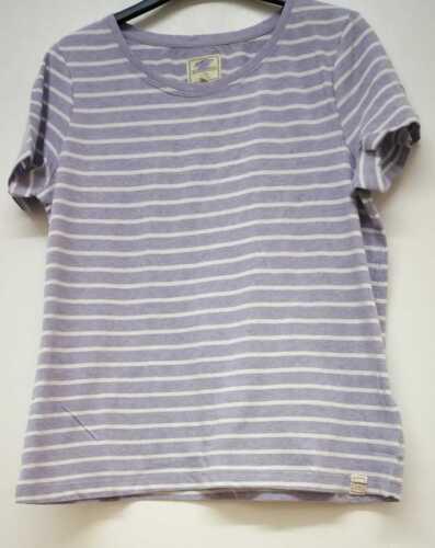 NEW RRP £25  Ex Fat Face Women/'s Organic Cotton Multi//White striped Tee