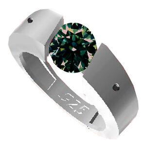 1-39-ct-vs2-BROWN-GREEN-REAL-MOISSANITE-NATURAL-BLACK-DIAMOND-925-SILVER-RING