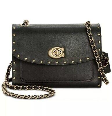 ❤️ Coach Parker 18 Shoulder Bag Black/Brass In Original Packaging | eBay
