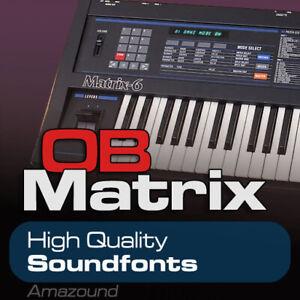 Details about OBERHEIM MATRIX 6 SOUNDFONTS 221 SF2 FILES 1792 SAMPLES MAC  PC FL TRAP DOWNLOAD