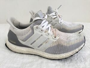 on sale 9bde5 97c98 Details about Mens ADIDAS ULTRABOOST ULTRA BOOST 2.0 White Grey Sneakers US  7.5 #14791