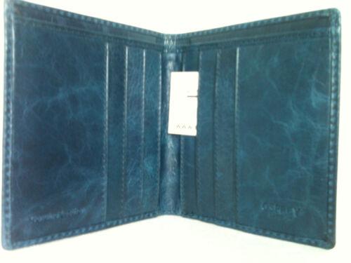 Osprey London Mens Wallet Nero Billfold in blue calf leather NEW RRP £65