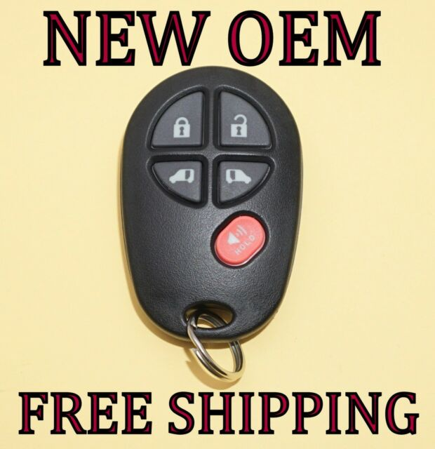 2004-2010 TOYOTA SIENNA 5 BUTTON KEYLESS REMOTE ENTRY FOB GQ43VT20T OEM