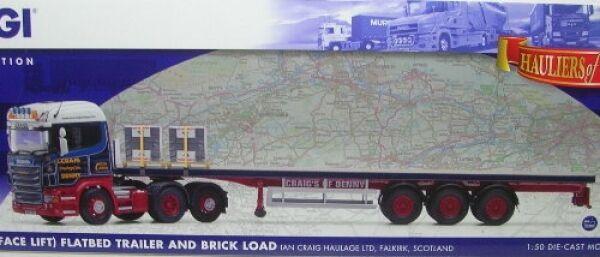 Scania R (Face Lift) Flatbed TRailer Ian Craig Scotland  | Großer Verkauf