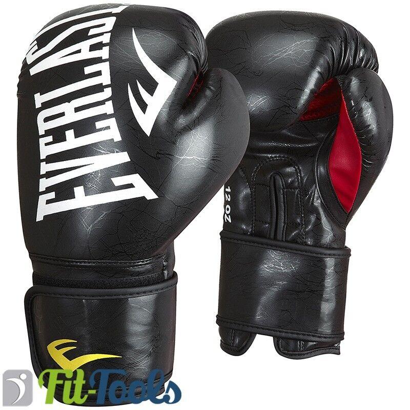 Everlast PU Boxhandschuhe MMA Marble schwarz, In 10, 12 oder 14 Unzen  | Ruf zuerst